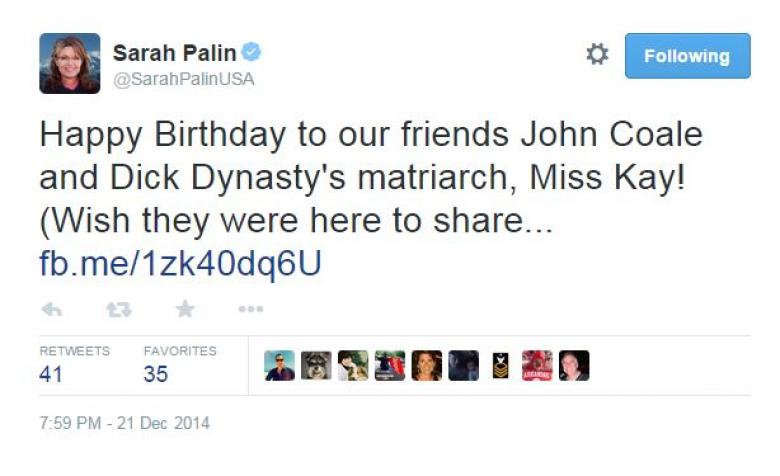 Sarah Palin Might Be Getting A Little Too Much Holiday Cheer