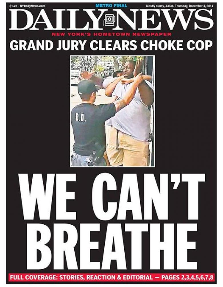 NY Daily News On Refusal To Indict: 'We Can't Breathe'