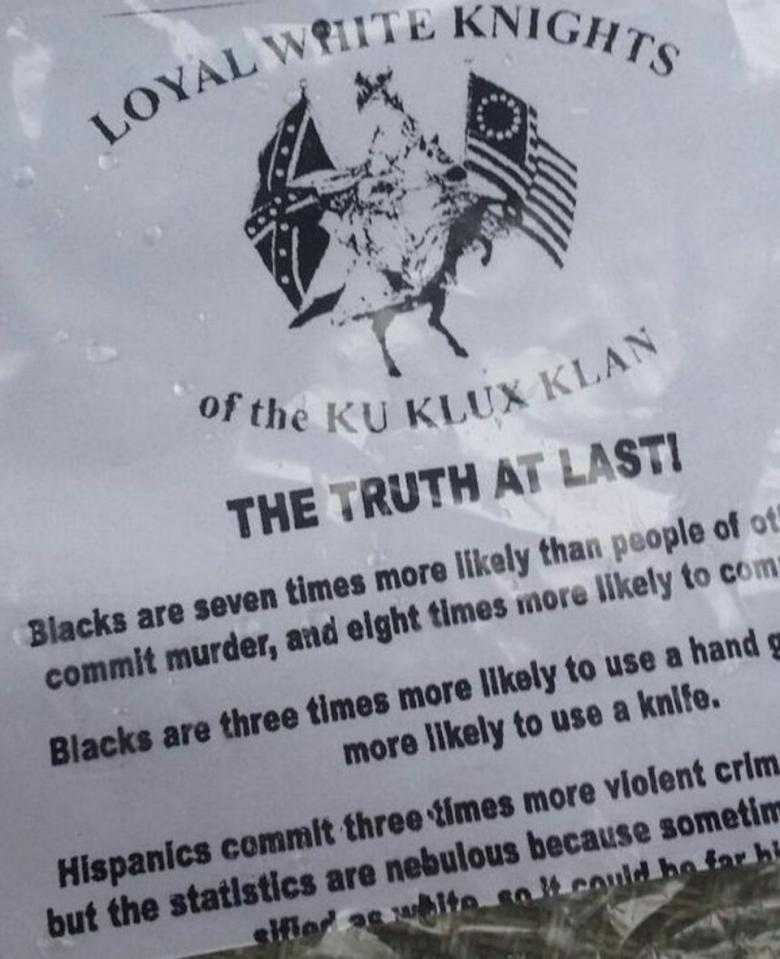 KKK Distributed Flyers In Selma For Bloody Sunday Observance