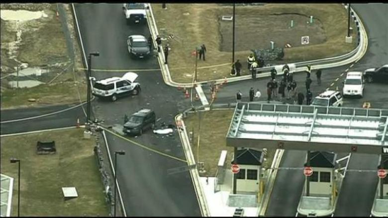 UPDATE: One Dead, One Injured After Man Rams Gates At NSA