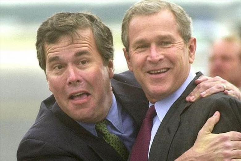 Jeb Bush Bear-Hugs Dubya's Policies