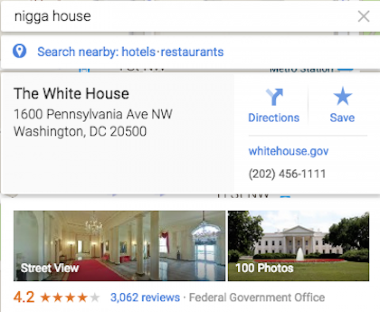 Google This Racist Phrase For Directions To The White House