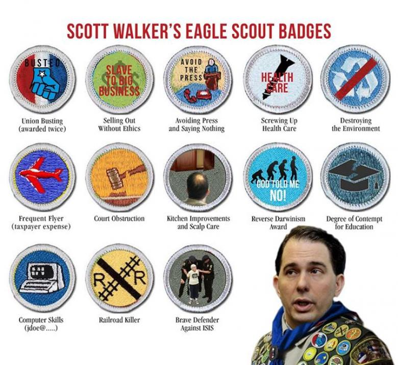 Walker Tries To Explain Away Boy Scouts Comment