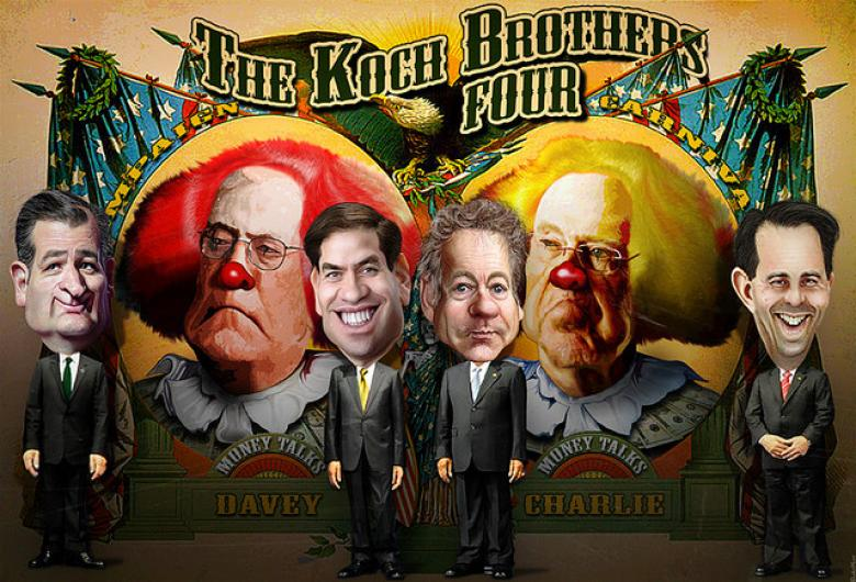 Koch Brothers Hobble Journalists Covering Their Retreat