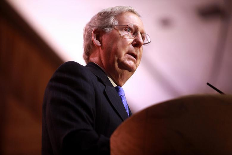 Mitch McConnell Cries Big Turtle Tears Following Failed Iran Vote