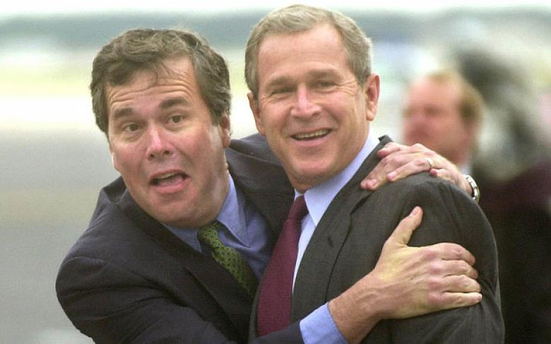 Maybe Jeb Isn't Embracing His Brother Enough