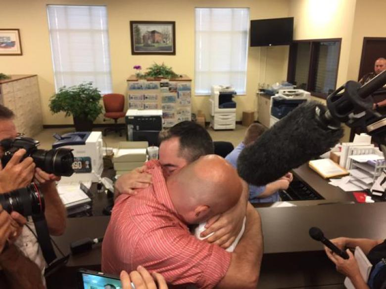 Gay Couple Gets Their Marriage License In Rowan County