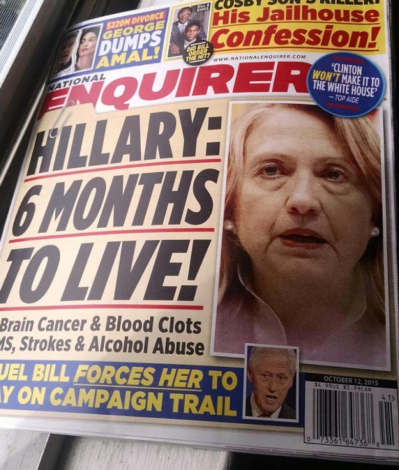 The Enquirer Reports Clinton Is Dying, Politico Jumps To Cover Story