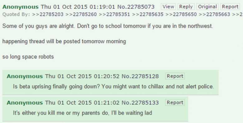 Reports: UCC Shooter Posted Plans For Shooting On 4Chan