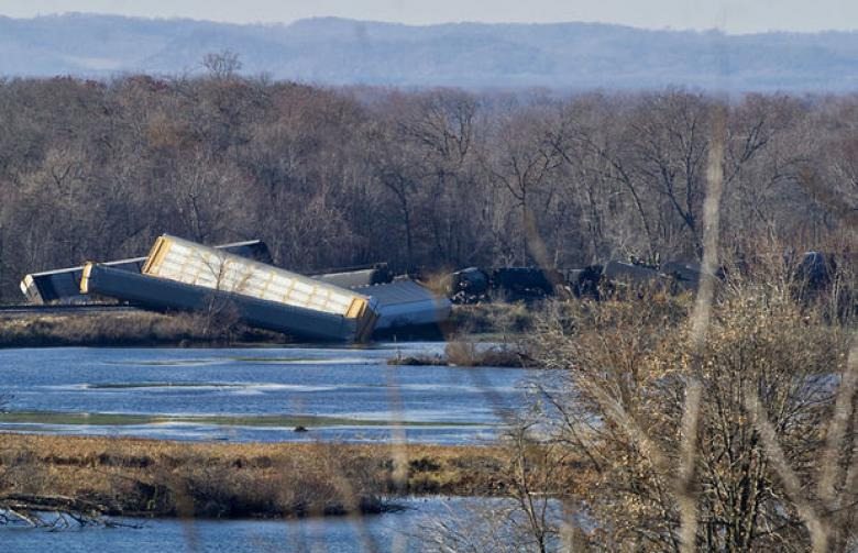Train Derailment In WI, Ethanol Spill In Mississippi River