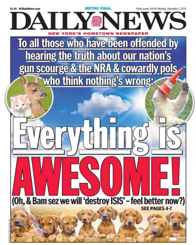 New York Daily News Nails It Again!