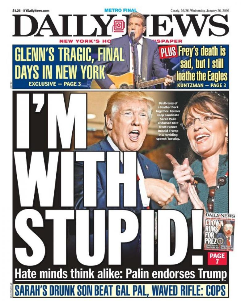 Once Again, The NY Daily News Nails It!