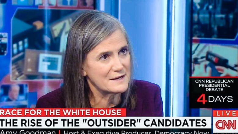 Amy Goodman Tells CNN Host: Stop Your 'Obsession With Polls' And Report On 'People's Records'