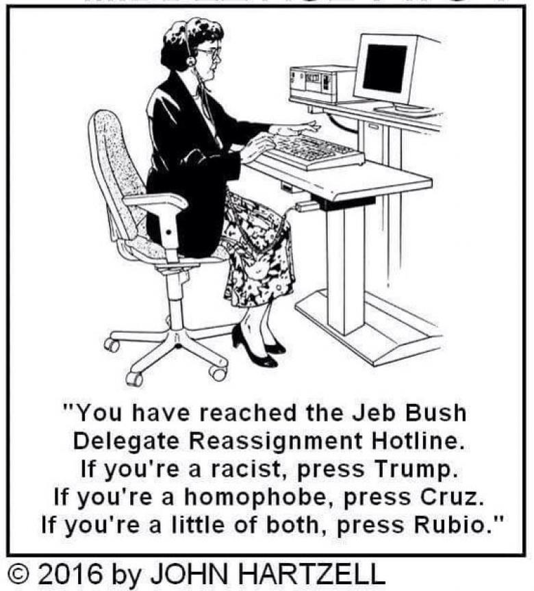 Open Thread - Bush Delegate Reassignment Hotline