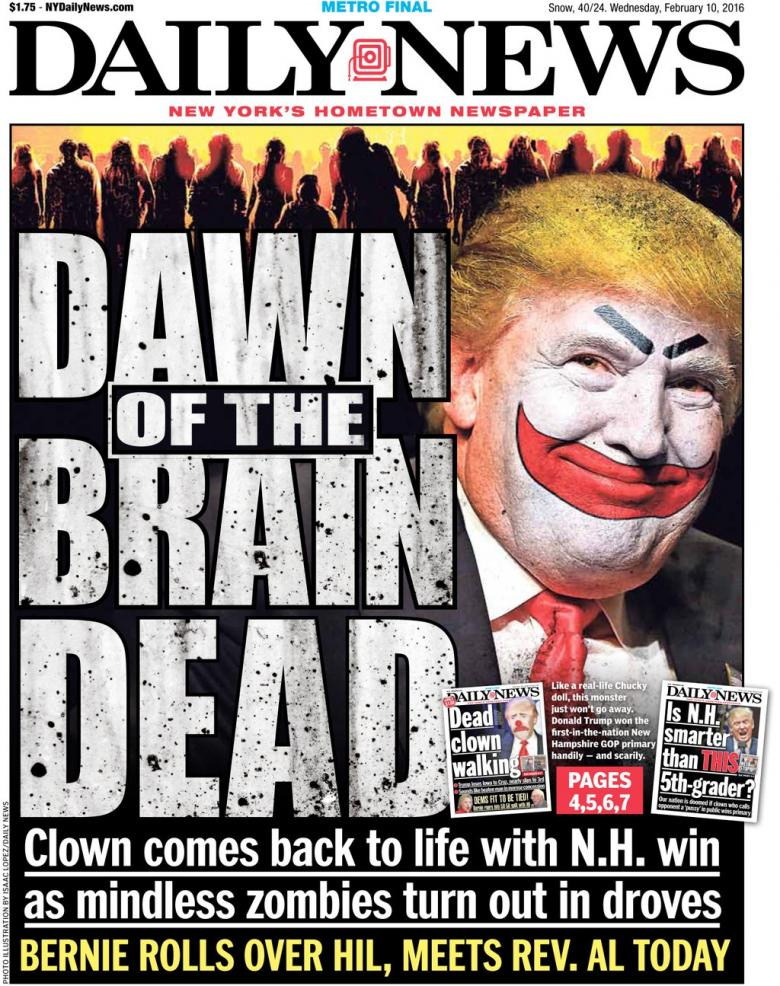 NY Daily News Front Page Is Brutal To Donald Trump