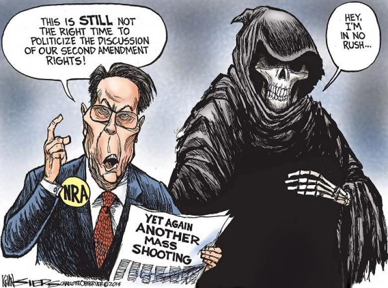 NRA Never Misses Opportunity To Race-Bait Mass Shootings