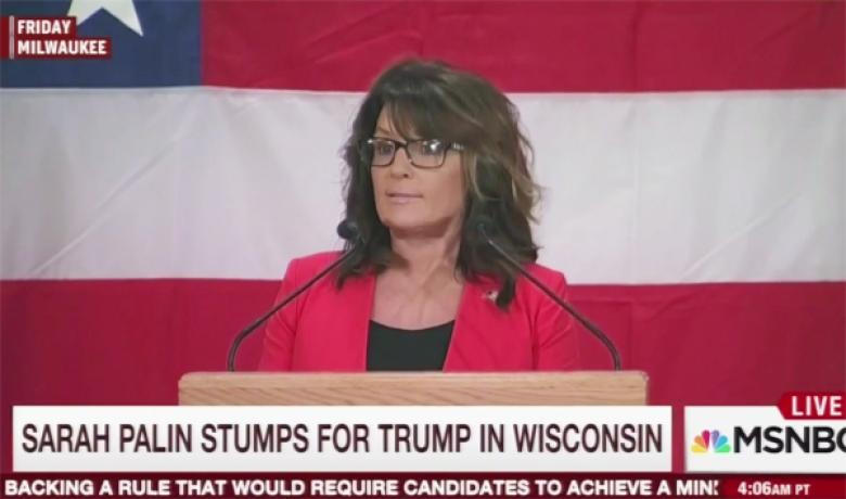 Sarah Palin Posts Anti-Trans Image To Protest Schilling's ESPN Firing