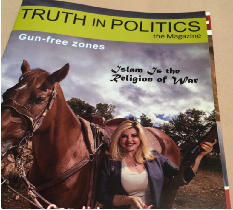 Michele Fiore Shames Nevada Again By Posing With Gun On Her Islamophobic Magazine Cover