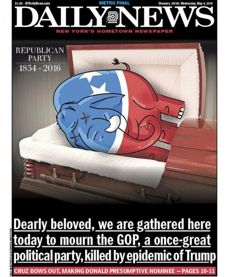New York Daily News' Funeral For The Republican Party