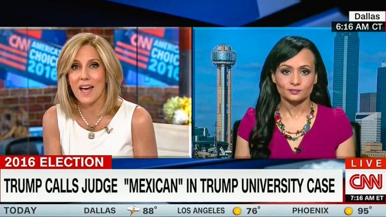 """He""s American"": CNN Host Smacks Down Katrina Pierson After Trump Calls Judge ""Mexican"""