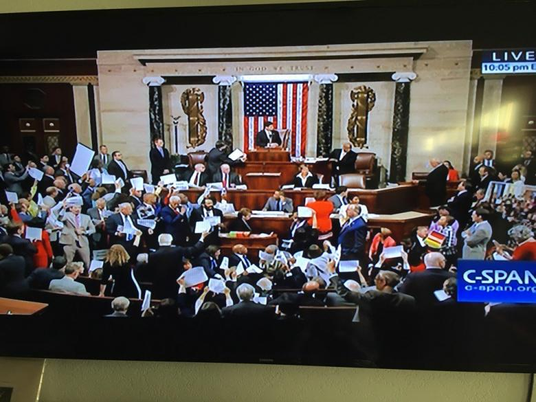 House Dems Refuse To Yield To GOP Demands For Order, Sit-In Continues