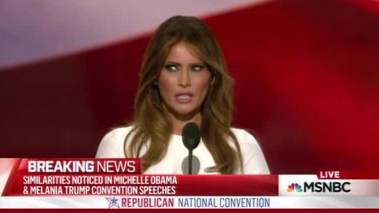 Melania Trump's Speech 'Borrowed' From Michelle Obama's 2008 Speech