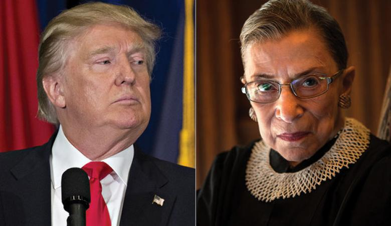 Donald Trump On Ruth Bader Ginsburg's Critiques: Whaaaaaaa!