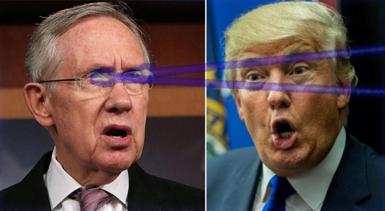 It's Now Obvious Harry Reid Has Frikken Laser Beams Aimed At Donald Trump