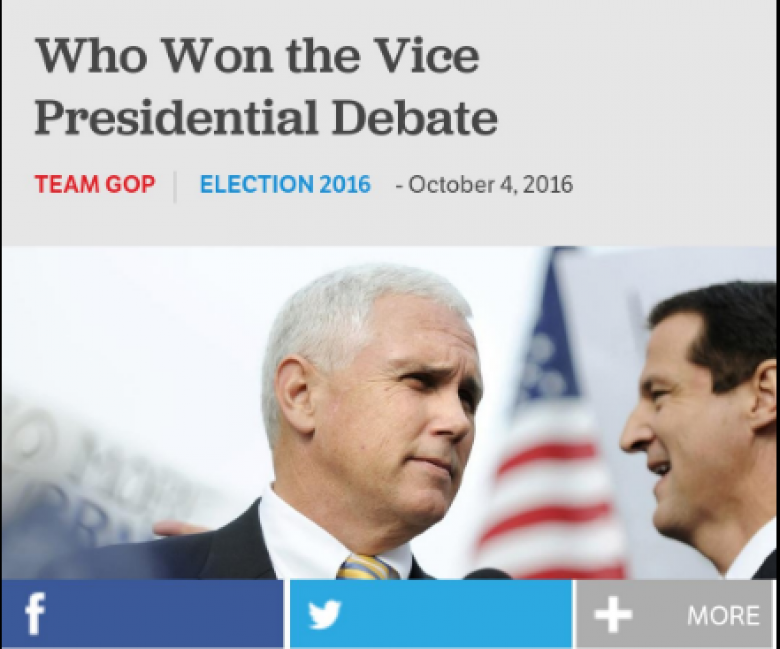 RNC Declares Mike Pence Winner Of VP Debate Before It Even Starts