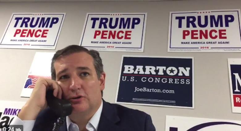 Embarrassing! Ted Cruz Makes Phone Calls For Donald Trump, Without Mentioning Trump
