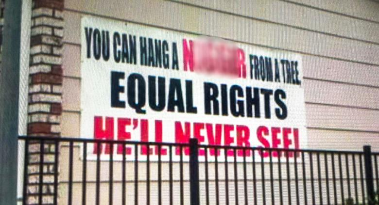 Sign In Predominately-Black California City Calls For Lynchings Instead Of 'Equal Rights'