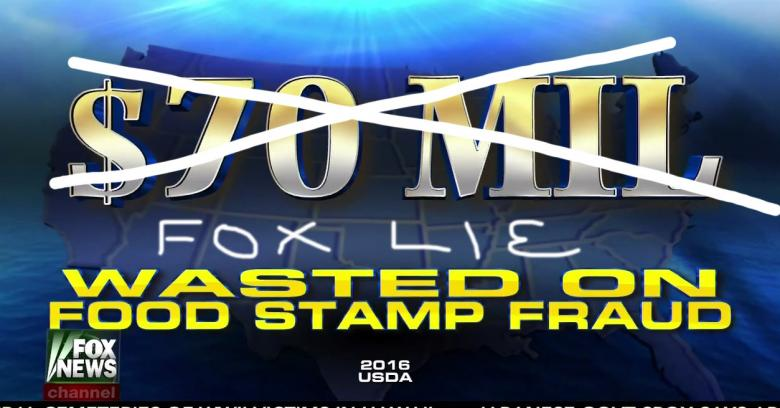 Fox's Food Stamp Scream Was BS, Here's Their 30 Second 'Correction'
