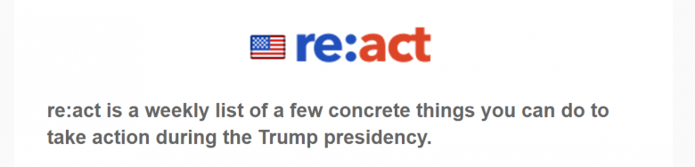 Re:Act Is A Great Resource For Helping Stop Trump Tyranny