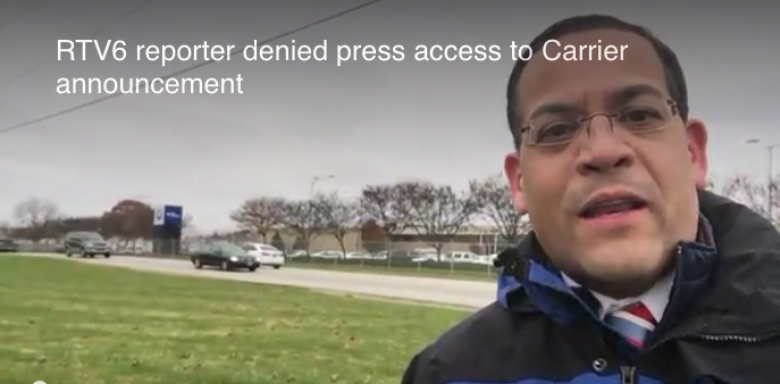 Carrier Denies Local Reporter Access To Trump 'Celebration'