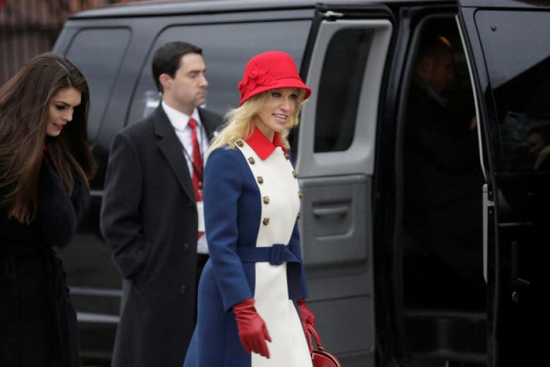 Damn You Kellyanne And Your $3600 Cat Head Button Coat!