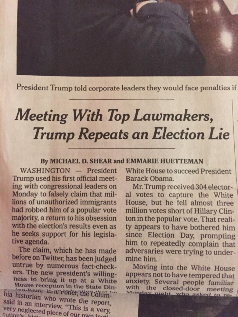 A Dam Bursts:  New York Times Uses Word 'Lie' In Headline About Trump