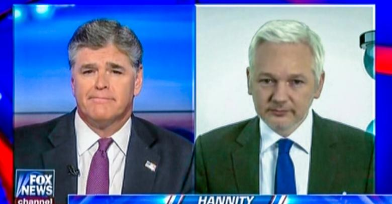 Sean Hannity Travels To London To Interview Julian Assange At Ecuadorian Embassy
