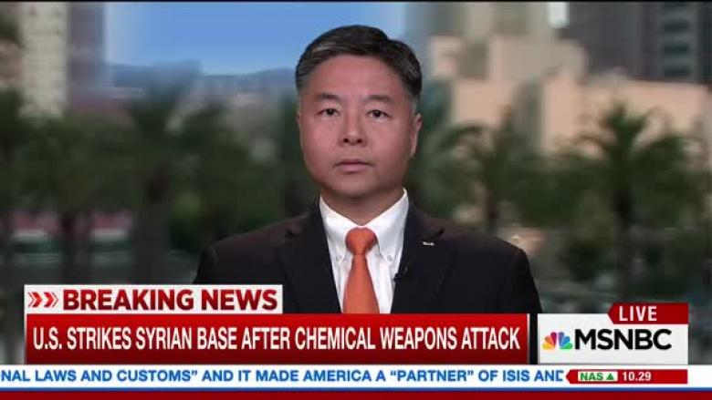 Ted Lieu: Trump Can't 'Launch Missiles Because He Sees Images That Offend Him'