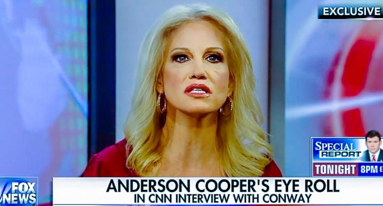 Kellyanne Conway: Anderson Cooper Is 'Probably Sexist -- Definitely Trumpist' For Rolling His Eyes