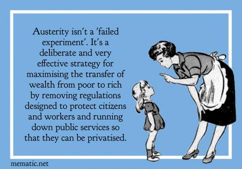 Open Thread - 'It's The Austerity, Stupid'