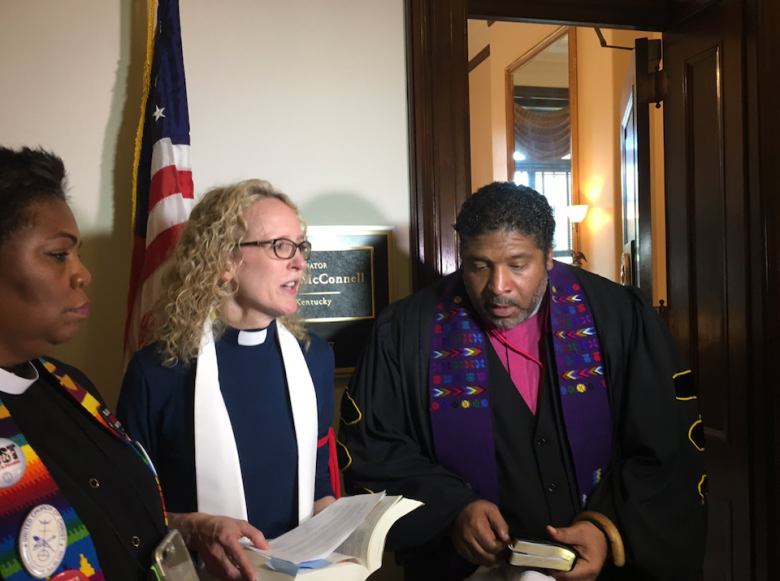 WWJD: Clergy Arrested At McConnell's Office For Protesting 'Death Bill'