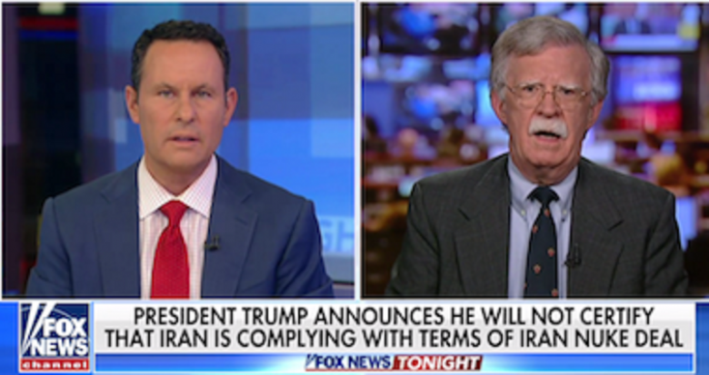 Trump Turned To Fox News' Sean Hannity And John Bolton For Advice On Iran Nuclear Deal