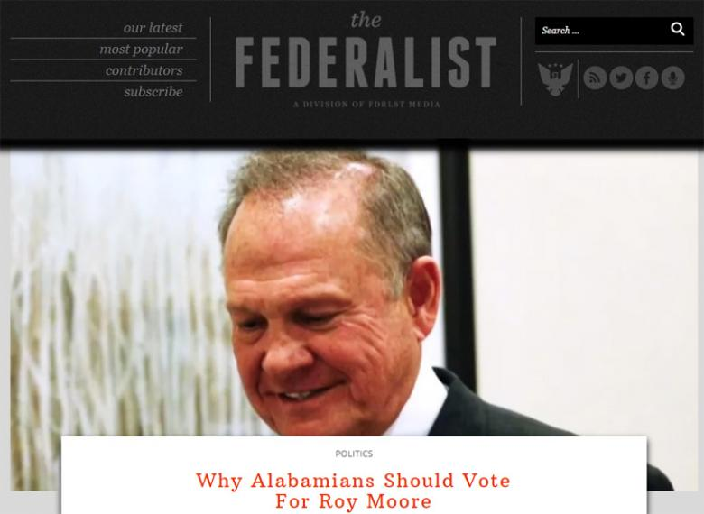 Conservative Website Urges A Vote For Roy Moore Even If He Molests Children