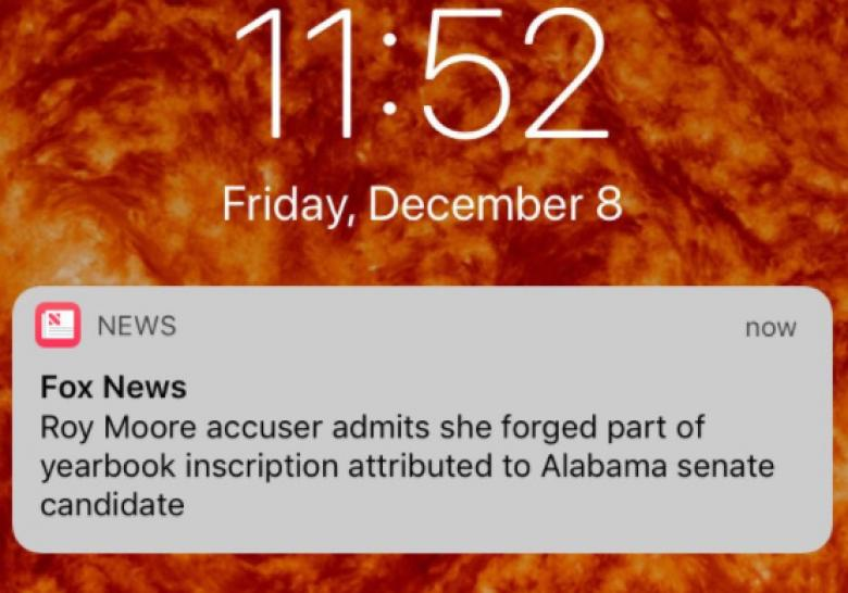 Fox News Retracts 'Forgery' Headline But Keeps It In The Moore Yearbook Story URL