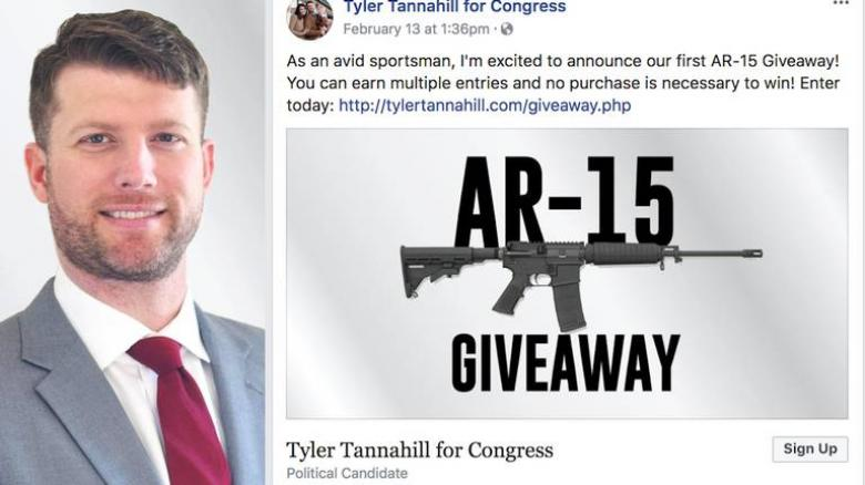 GROSS: Kansas GOP Candidate Holds AR-15 Giveaway