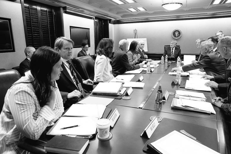 Trump Administration Tries To Tweet Sober Situation Room Pic.  But...