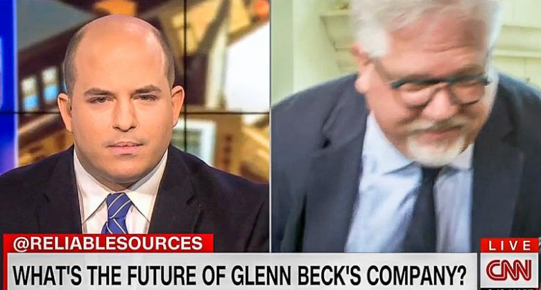 Glenn Beck Storms Out On CNN Interview After Brian Stelter Asks About His Imploding Media Company