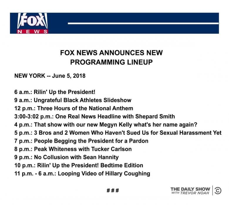 Open Thread - 'Tonight On Fox!' From The Daily Show