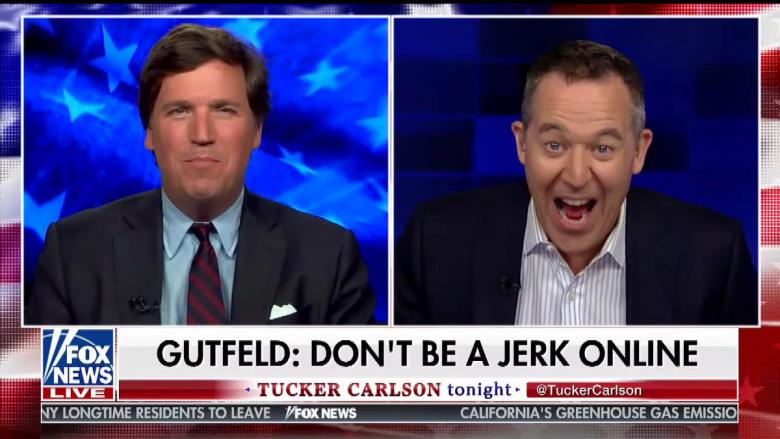 photo image Greg Gutfield Tells Tucker Carlson 'People Shouldn't Be Jerks'