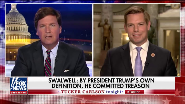 Watch Tucker Carlson Get Put On The Defensive By Rep. Swalwell